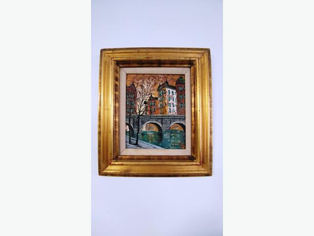 Beautiful European Set Oil Painting in Gorgeous Gold Frame