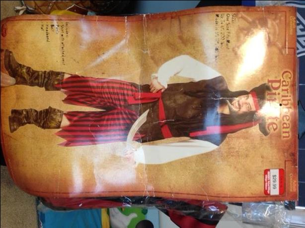 NEW ADULT size- CARIBBEAN PIRATE costume - paid over 30$