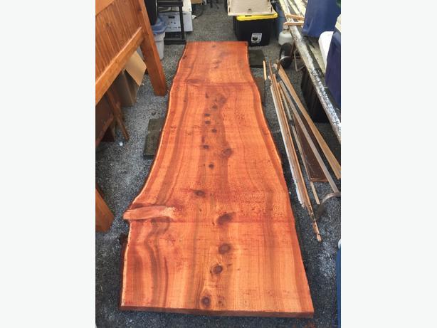 live edge cedar slabs