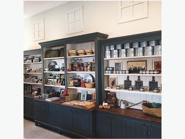 Custom Built Pine Store Display Cabinet