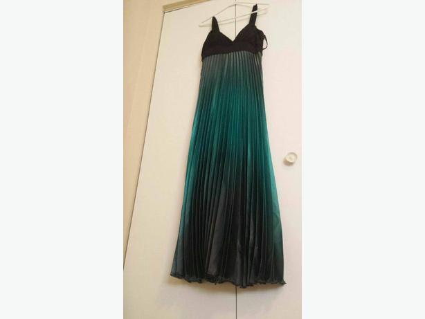 long green ombre dress