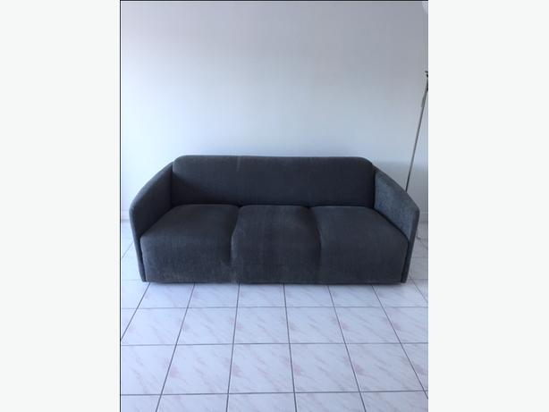 Durable 3 person cloth couch in great shape