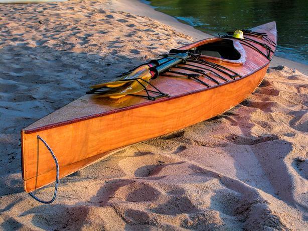 Chesapeake 16' Kayak, Custom built fiberglass & wood