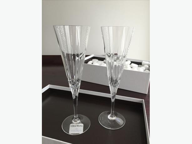 Wedgwood Vera Wang Peplum Crystal Toasting Flutes (pair)