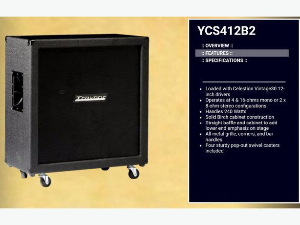 EMPTY oversized 4x12 Cab, Traynor YCS412B2