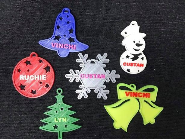 Custom Christmas Decor - 3D Printed