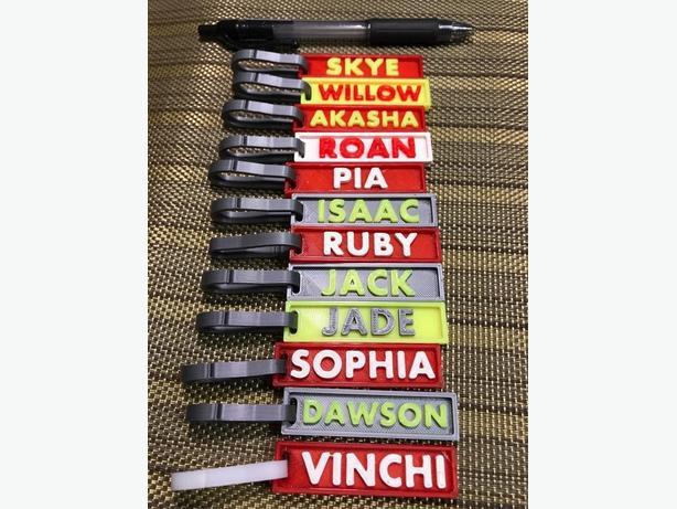 Custom Name Tags / Bag Tags - 3D Printed