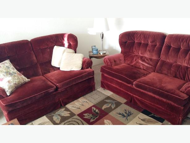 Burgundy Couches