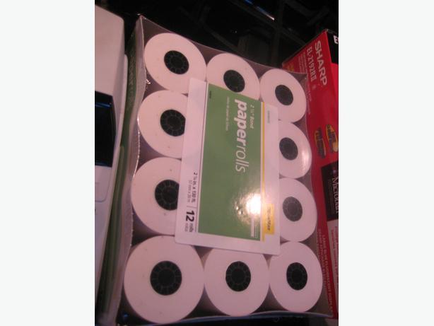 "NEW BOX OF 2 1/4"" CALCULATOR PAPER ROLLS"