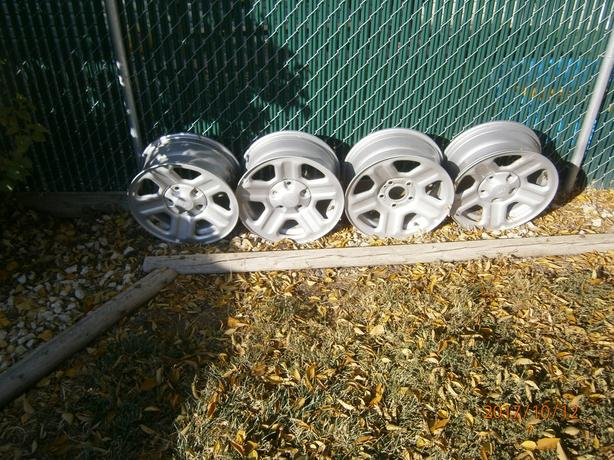4 JEEP 16 INCH RIMS WITH SENSORS NEW and FITS DAKOTAS  SOME HYANDAIS AND MORE