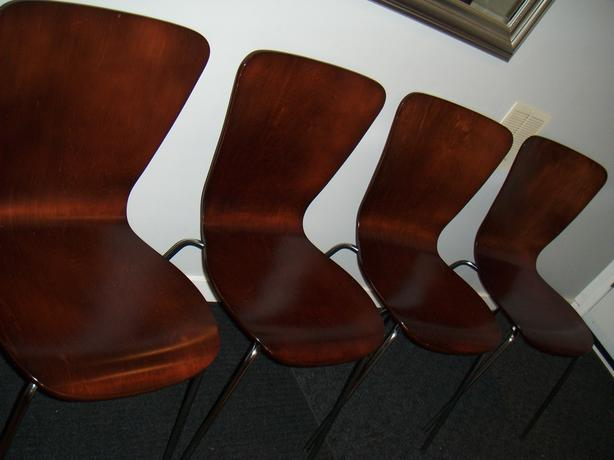 ikea style copper brown stacking chairs (still available if ad is still up)