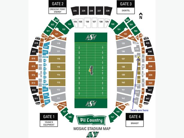 2 Rider Tickets for Oct 13 Home Game vs Redblacks
