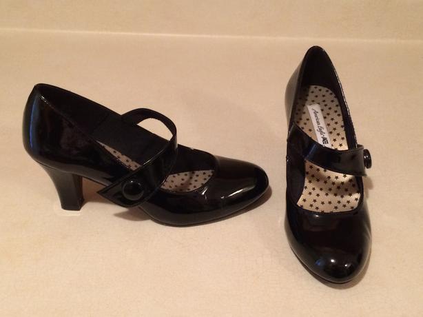 Patent dress shoes