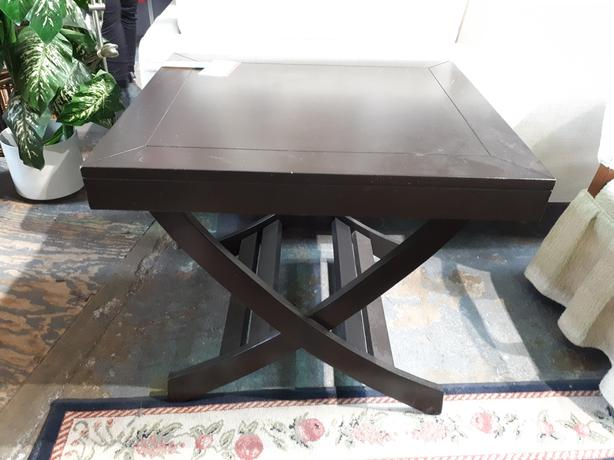 Modern dark wood side table | #544