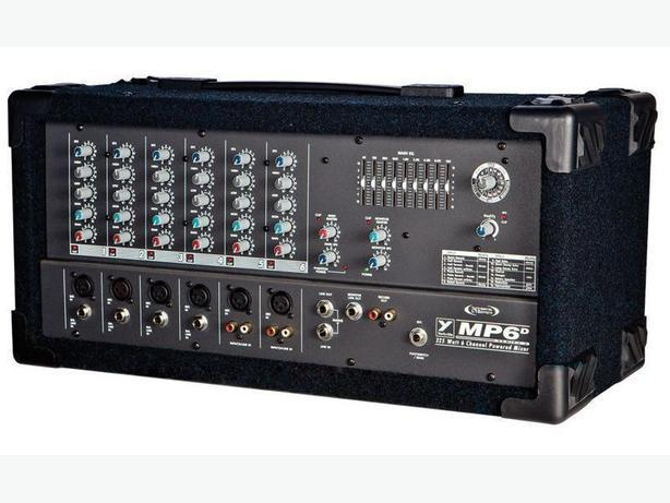 YORKVILLE POWERED 6 CHANNEL MIXER & SPEAKERS