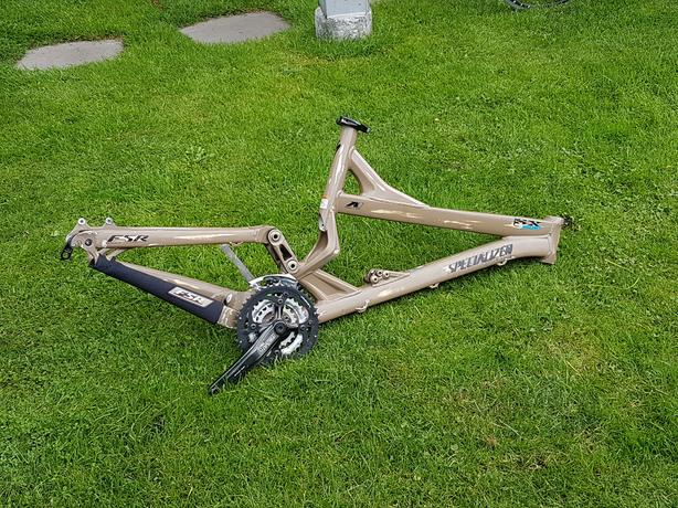 SPECIALIZED FULL SUSPENSION MOUNTAIN BIKE FRAME...LIKE NEW!