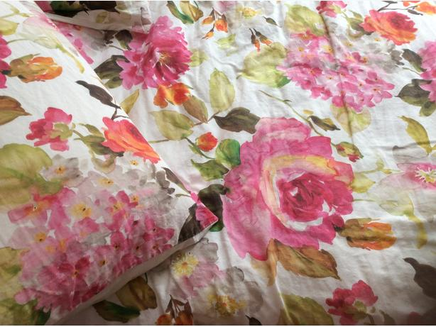 Beautiful Queen Duvet cover and two pillow shams