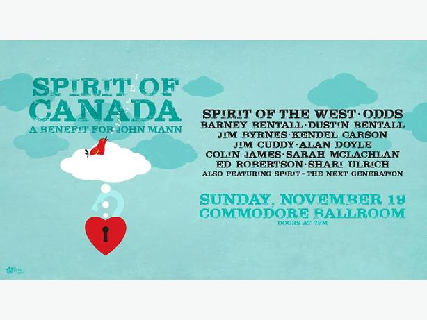 WANTED: Spirit of Canada Tickets: A Benefit for John Mann  - Nov 19th