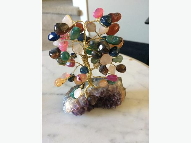 Amethyst Geode And Stone Tree