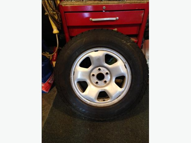 "17"" Goodyear Snow Tires on Rims"