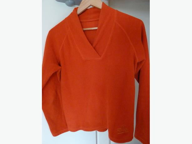 fleece pullover sweater vneck Roots size Extra Small