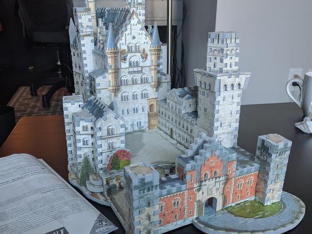 Neuschwanstein Castle 3D Puzzle - no missing pieces