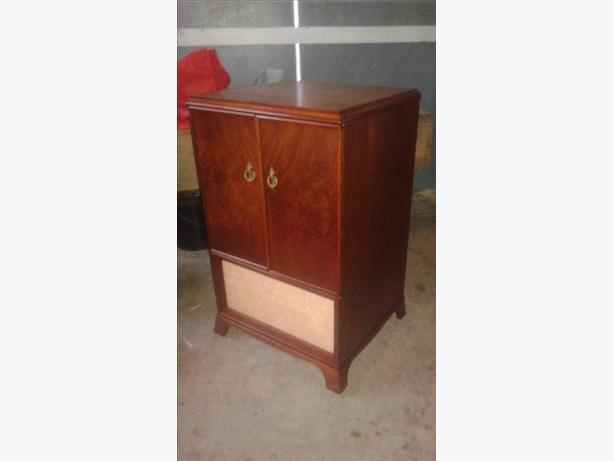 Antique Burl Walnut Cabinet