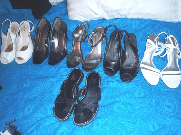 Purses, women's heels, sandals & household items to go!