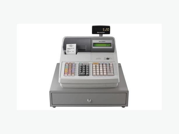 Cash Register - Sharp er a530a, used, 2 tape thermal, keys, manu
