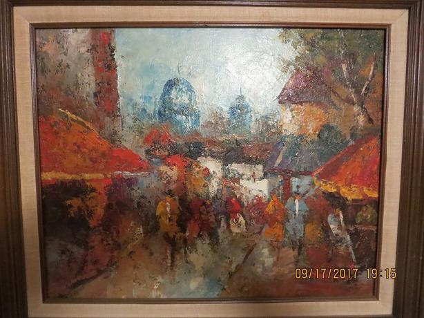 TWO OLD PAINTINGS BY HANSON
