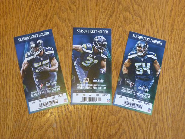 NFL MONDAY NIGHT FOOTBALL: SEAHAWKS VS FALCONS, NOV 20TH, $350 OR BEST OFFER