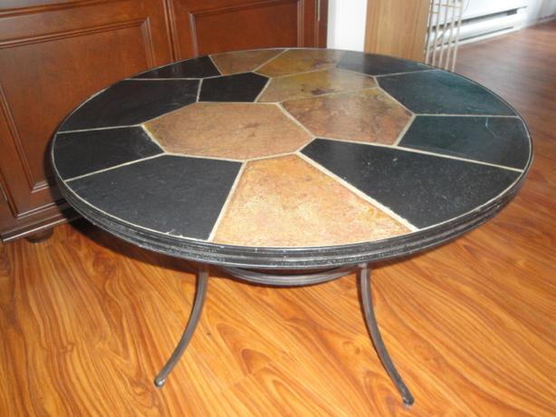 Super Log In Needed 175 Pier 1 Imports Wrought Iron And Slate Coffee Table 30 Diameter 18 High Pdpeps Interior Chair Design Pdpepsorg