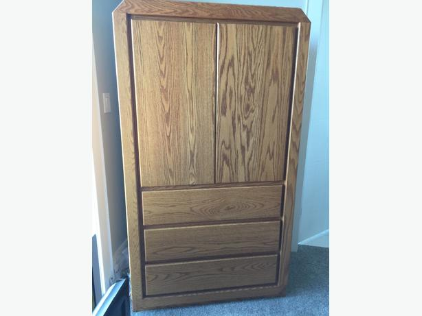 Solid Oak Armoire for sale