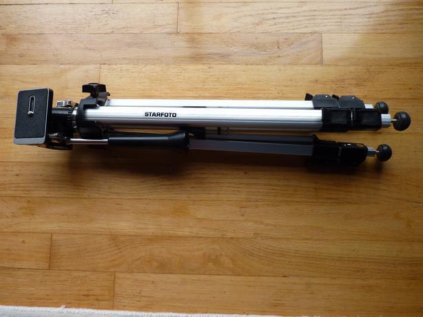 Starfoto aluminium medium to heavy duty full size camera tripod