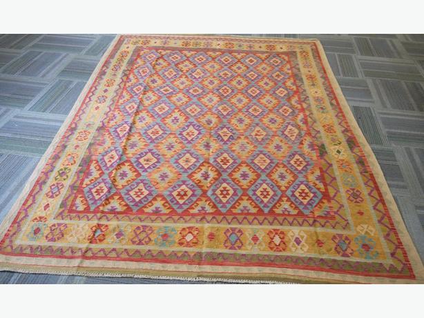 20710-Afghan Kelim Hand-Knotted/Handmade Afghan Rug