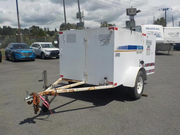 2004 Utility Trailer with 2 Gas Generators and 2 Water Pumps & Flood lights