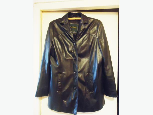 Danier Women's Black Leather Car Coat - $599 - Like New
