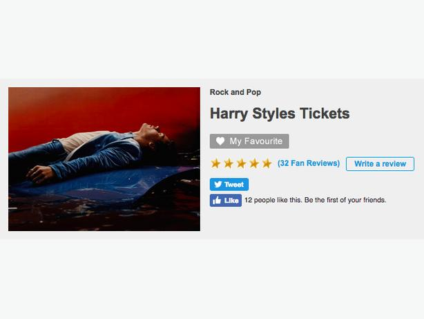 Four Harry Styles Tickets (Face Value)