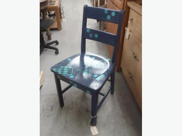 Hand Painted Wood Chair