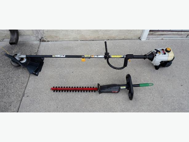RYOBI GAS TRIMMER WITH ATTACHMENT