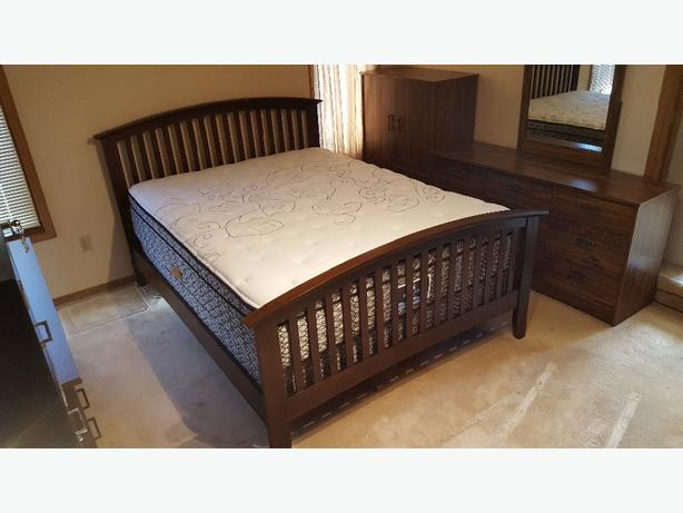 Queen Bed Frame - Espresso Wood