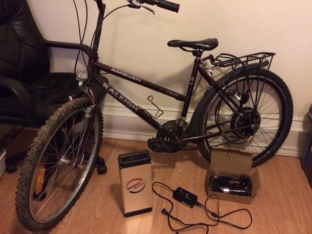 like-new electric bike conversion kit + 24V battery