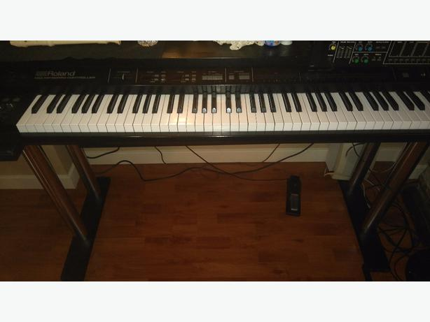 roland keyboard 88 key piano mkb 1000 with midi controller and foot