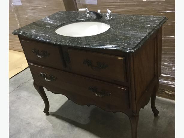 BATHROOM VANITY – unique, stand alone, granite top  $200 obo
