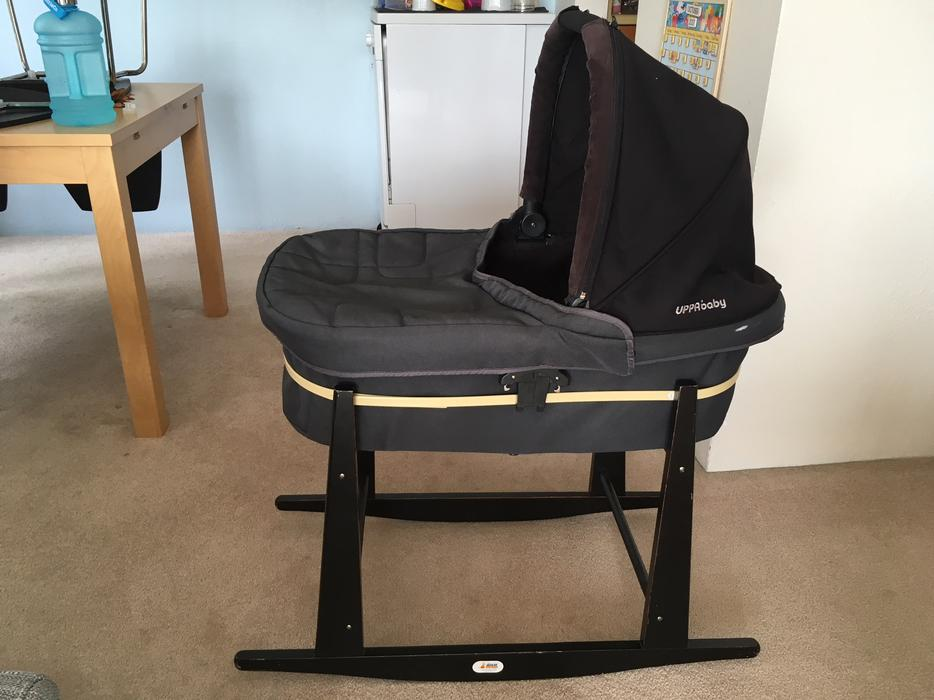 4793bc28b75 $50 · Uppababy bassinet and Jolly Jumper stand