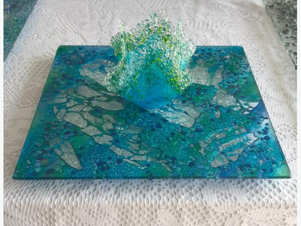 Beautiful Glass Platters & Wall Hangings