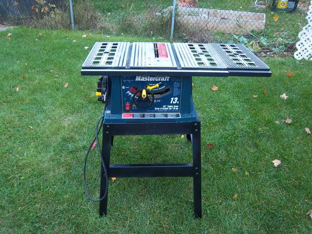 Mastercraft 10 table saw with stand orleans ottawa for Table 85 ottawa