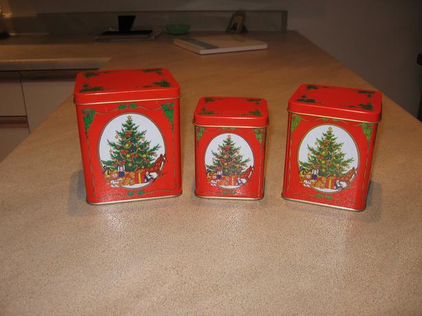 Set of Christmas Tins