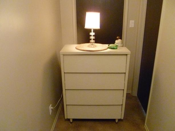 Solid wood modern dresser