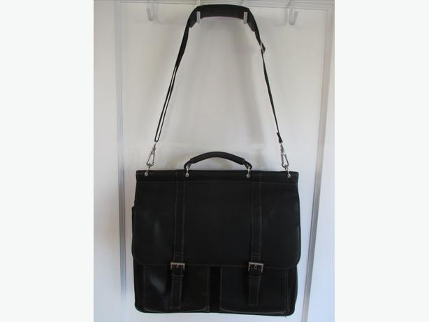 Black All Leather Briefcase/Computer Bag